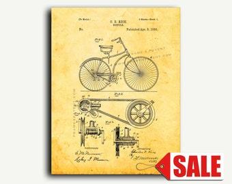 Patent Art - Bicycle Patent Wall Art Print
