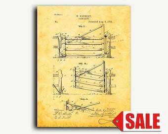 Patent Art - Farm Gate Patent Wall Art Print Poster