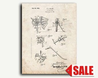 Patent Art - Bicycle Stand Patent Wall Art Print