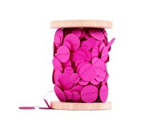 Neon Pink Paper Garland