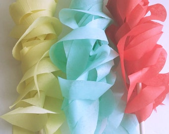 Red, Yellow and Aqua Streamers-Circus party favors-Wedding party favors