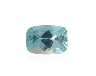Green Apatite Loose Gemstone Cushion Cut 1A Quality 6x4mm TGW 0.45 cts.