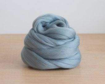 Wool Top - Silver Grey