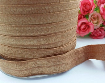 "5/8"" Chipmuck Shiny Elastic, fold over elastic,#845, Elastic by the yard,DIY,Headband,Foe,Wholesale,Foldover elastic,Headbands"