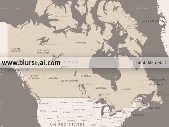 X X Printable North America Map With - Us map pinboard