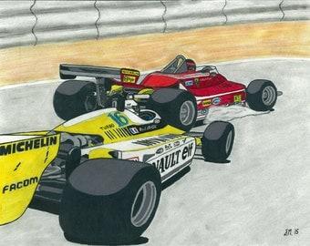 Villeneuve v. Arnoux - Rivalry Series Part 6 - Print