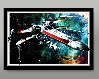 Alliance Inspired X Wing Poster - Print 281 - Home Decor
