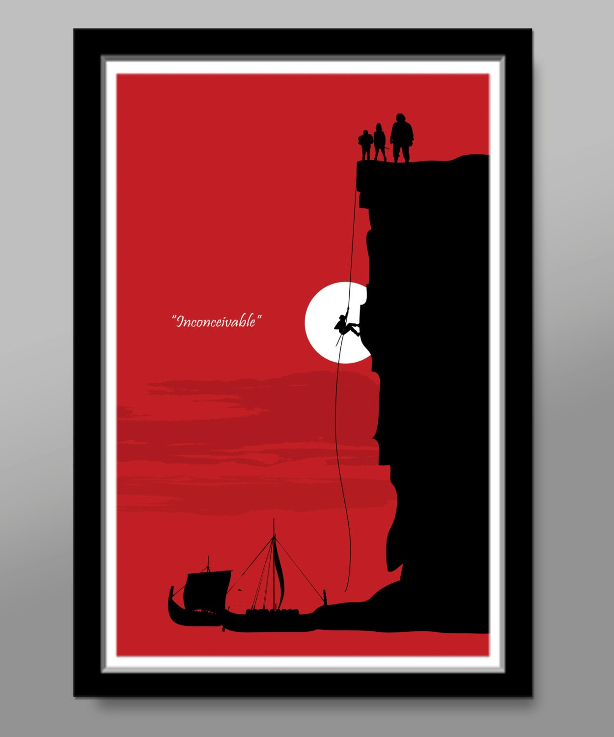 Large minimalist movie poster