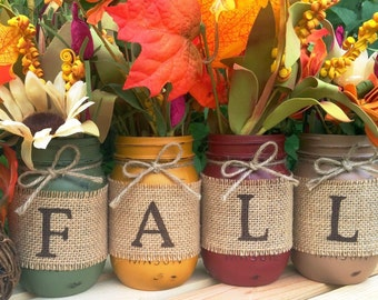THE ORIGINAL Fall Mason Jars, Autumn, Home Decor, Fall Decor, Thanksgiving, Centerpiece, Fall Wedding, Farmhouse, Fall, Country, Harvest
