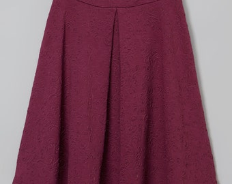 Modest Aline Front Pleat Skirt with exposed back zipper