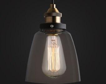 Basic Glass Pendant Lamp - ceiling lamp - hanging lamp - E27 - edison bulb - industrial style - hanging lamp - Edison bulb lamp