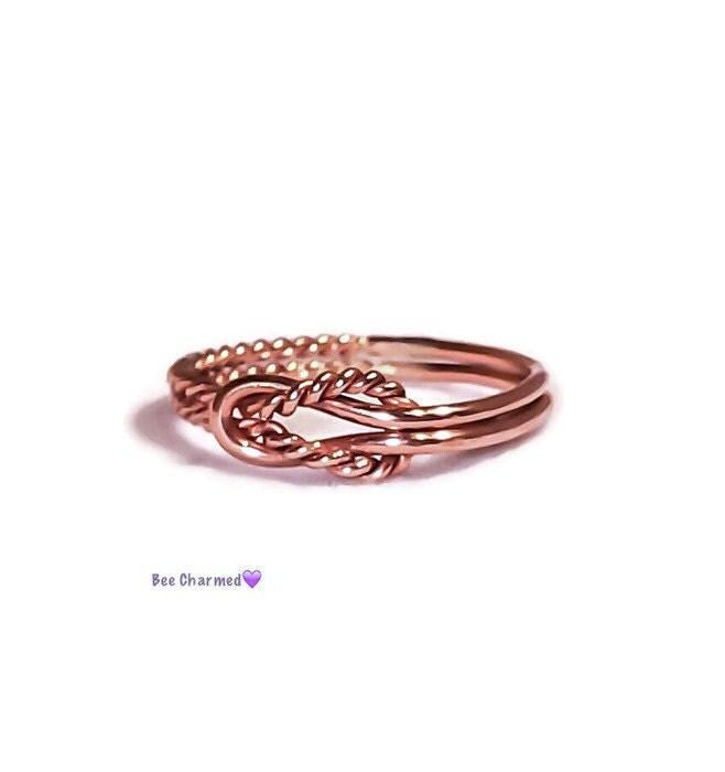 gold knot ring sailor knot ring by katesbeecharmed