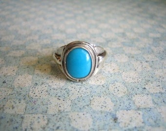 Sterling Silver Tuquoise  Ring