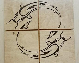Japanese Style Koi Wall Art