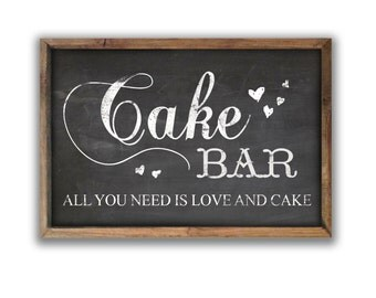 Cake bar sign cake bar wooden sign cake plaques wedding sign wedding cake bar wedding signs bakery signs bakery wall art bakery decor