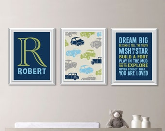 Boy Nursery Decor | Etsy