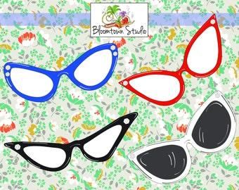 Cat Eye Glasses Clipart