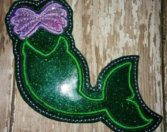 Mermaid Tail Feltie Felties Little Mermaid Ariel Princess Tail Fin Oversized Oversize Large Glitter Feltie Felt Embellishment Bow Parts