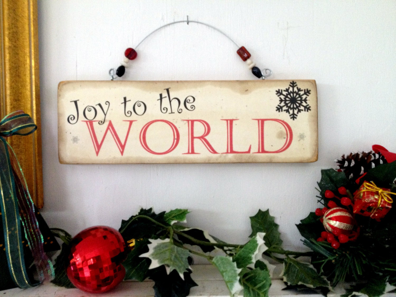 Christmas sign,Joy to the World sign, xmas holiday signs,shabby chic ...