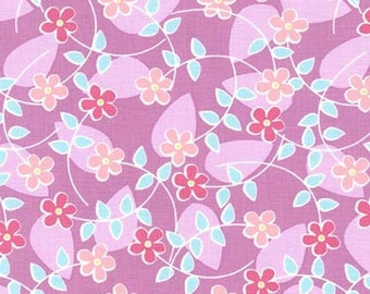 Floating Blossoms in Peony by Tamara Kate for Michael Miller Fabrics