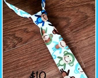 Monkey Little Boy Necktie, Neck Tie