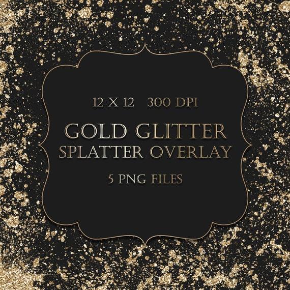 Gold Sparkles Clipart Gold Glitter Splatter Clipart