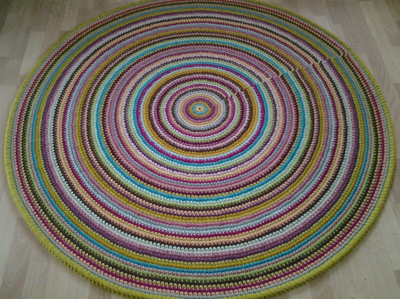 Tappeto 47  120 cm rotondo grande uncinetto / Crochet
