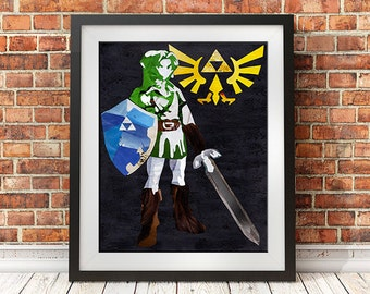 Quirky art home decor accessories by artpoptart on etsy for Chambre zelda