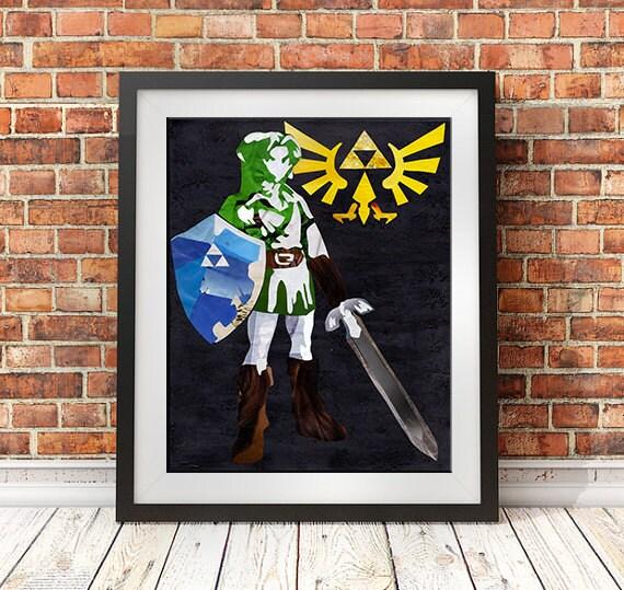 Legend Of Zelda Wall Art Zelda Poster Mother's Day Gift