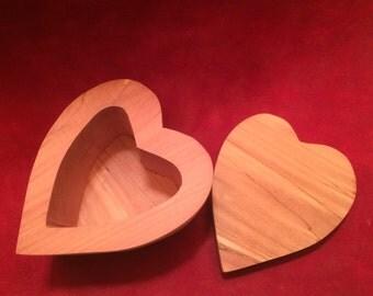 Heart Shaped Aromatic Cedar Box