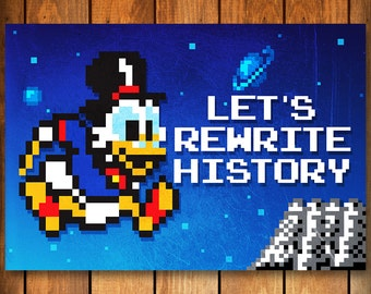 Let's Rewrite History - DuckTales Poster Print