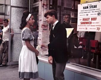 New York 1963 64 Couple Date Rendezvous Restaurant Clothing Magazine Photo Vintage Look Arthur von Schwertfuehrer (1891-1967) Open Edition