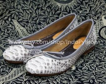 Genuine Python Flats Ballet Shoes Exotic SnakeSkin Leather Size 36-37