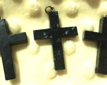 Shungite Cross Pendant, Sacred Jewelry, Cross Pendant!