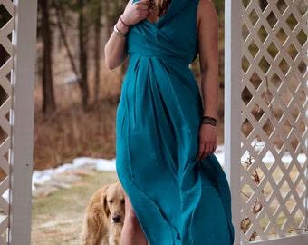 Maxi Hooded Goddess Dress Long w/ slits
