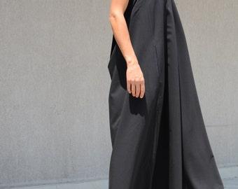 Floor Dress, Long Black Dress, Maxi Dress, Floor Length Dress, Elegant Dress, Gothic Dress, Sexy Dress, Prom Dress, long Dress, Halter Dress