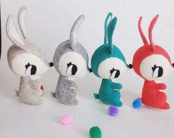 Kawaii felt bunny