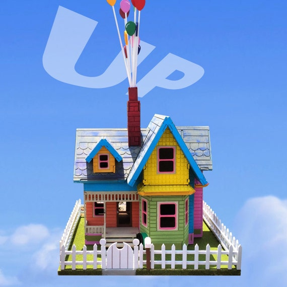 Disney Up House Model Assembled And Painted With By