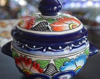 Talavera sugar bowl