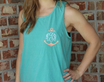Monogrammed Anchor Tees, monogram, anchor, preppy, cute, initials