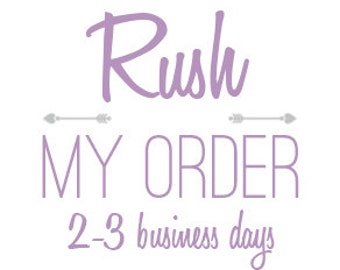 RUSH Production 1-2 ITEMS + Priority Shipping Upgrade