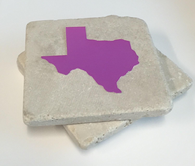 Texas Coasters Drink Coasters Stone Coasters Set By Nicolemarilyn