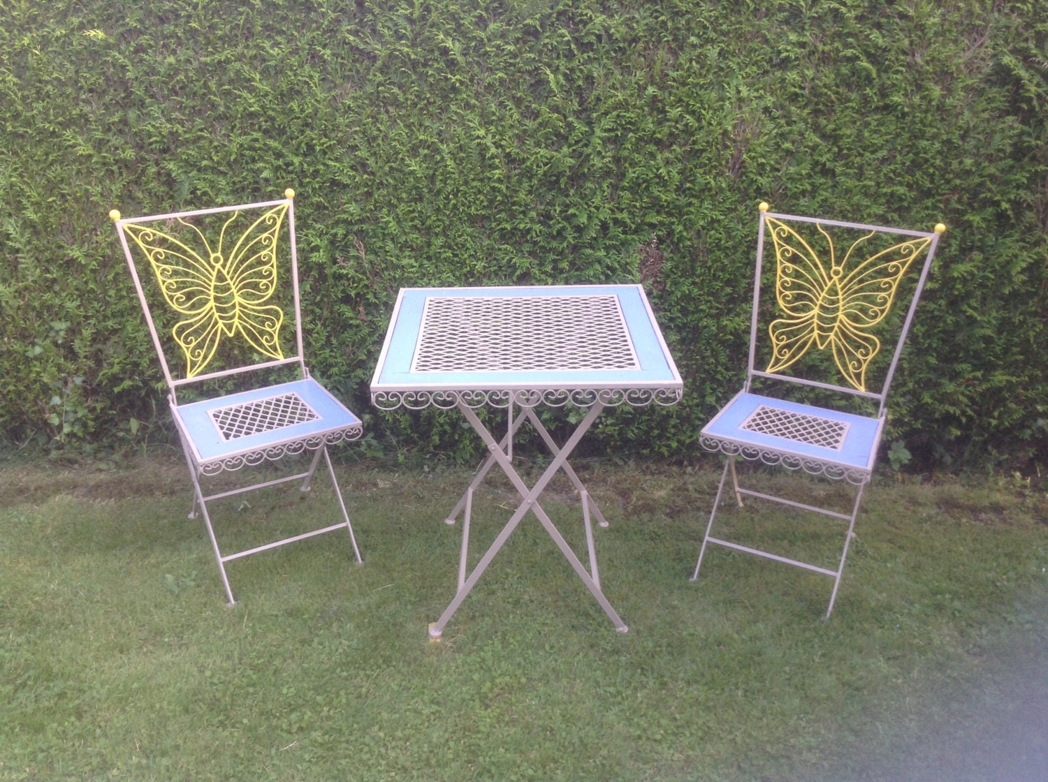 Oh La La Vintage French Garden Patio Furniture Salon De Jardin Circa 1940 S Forged Iron