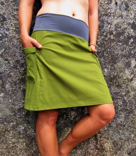 Activewear Hiking Skirts With Yoga Style Waistband And Side