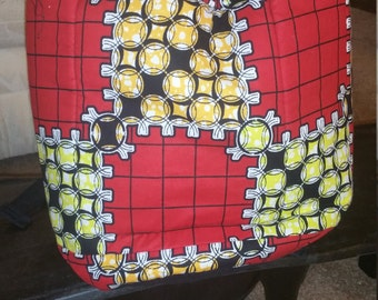 African print backpack .