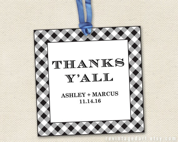 thanks y 39 all tags printable for thank you gifts weddings. Black Bedroom Furniture Sets. Home Design Ideas