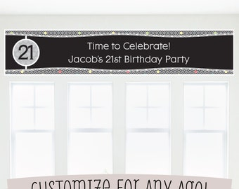 Custom Birthday Party Banner - Birthday Party Decorations