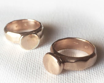 Rose Gold Cast Faceted Solitare Ring