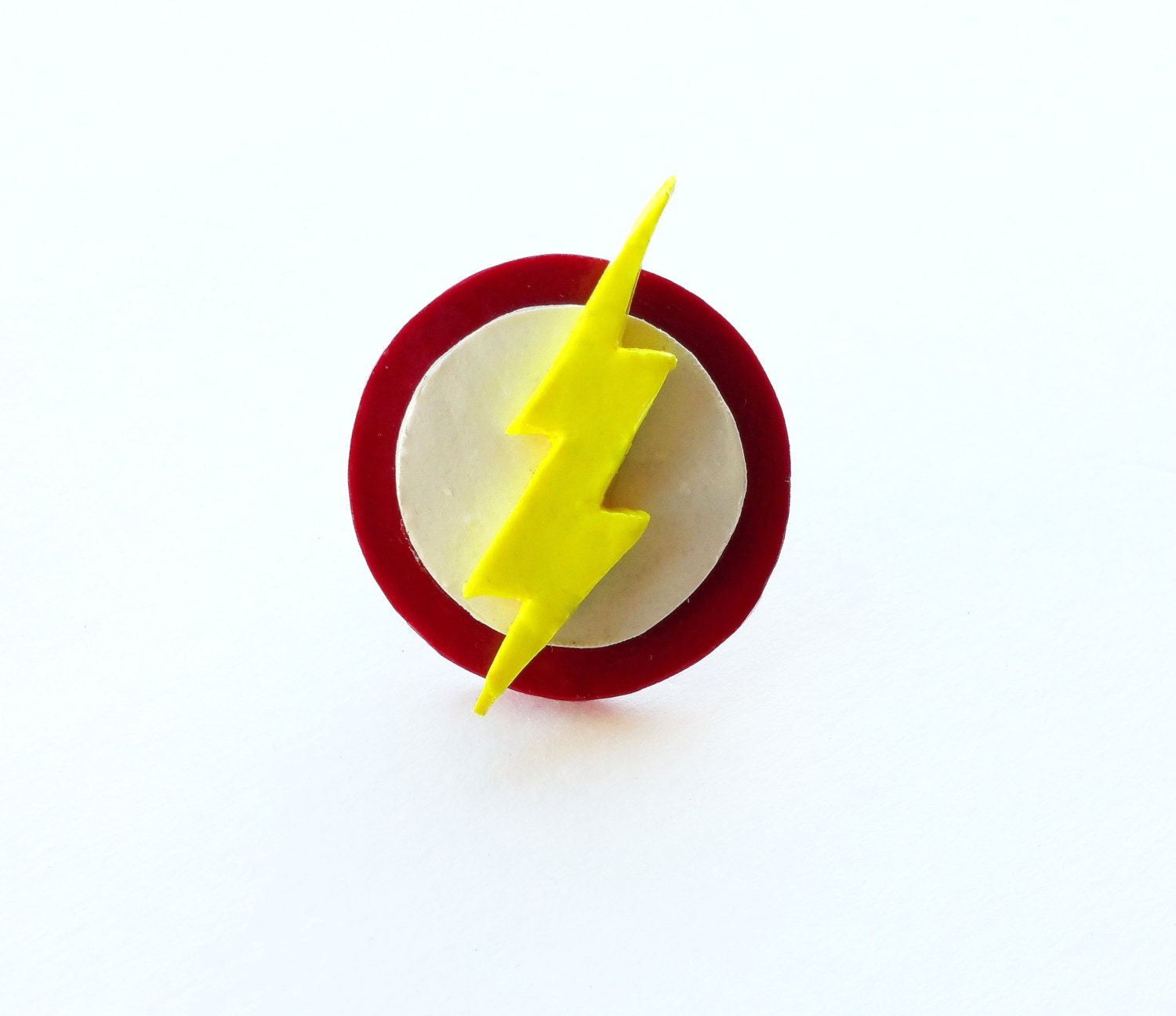 the flash ring dc comic books the flash symbol by candyskloset. Black Bedroom Furniture Sets. Home Design Ideas