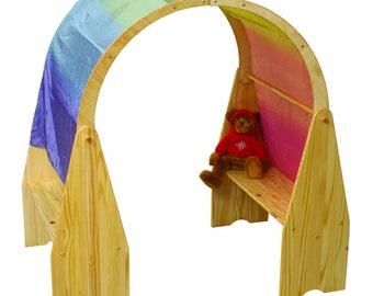 Waldorf Style Play Stands with Arches, Finished or Unfinished